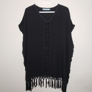 Solitaire Summer Casual Fringe Cover up Dress